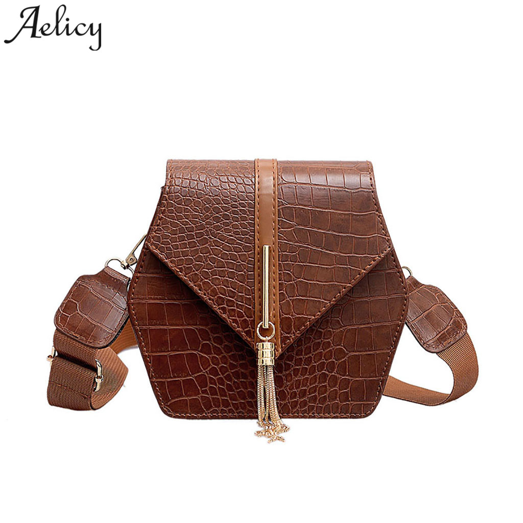 Aelicy girls messenger bags Wild leather lady Shoulder Bag Crocodile Square Tassel Crossbody Bags for women 2019 bolsa femininaAelicy girls messenger bags Wild leather lady Shoulder Bag Crocodile Square Tassel Crossbody Bags for women 2019 bolsa feminina