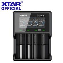 XTAR Caricatore LCD di CONTROLLO di qualità 3.0 di Ricarica Veloce Per VC4S / VC2S Accumulatori E Caricabatterie Di Riserva del Caricatore/VC2 VC4 del CARICATORE del USB 20700 21700 18650 Caricabatteria