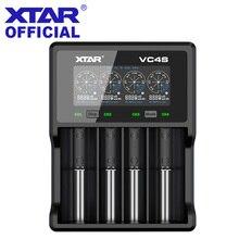Зарядное устройство XTAR с ЖК дисплеем, QC 3,0, быстрая зарядка для VC4S/VC2S, внешний аккумулятор, зарядное устройство VC2, VC4, зарядное устройство USB 20700, 21700, 18650, зарядное устройство