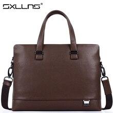 Sxllns Men Shoulder Bags Brand Handbag Genuine Leather Briefcase Business Tote Laptop Bag Men's Messenger Bag Free Shipping