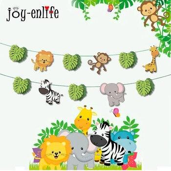 Jungle Feestartikelen Gelukkige Verjaardag Guirlande Cartoon Dier