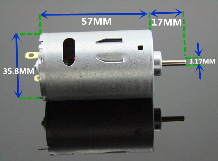 9-24V 550 Mini DC Motor Strong Magnetic Brush Strong Driving Force Large Torque Free Shipping Russia