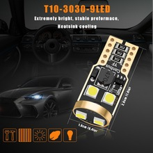100pcs/lot T10 w5w 3030 Car LED Canbus Light for BMW E46 F10 X5 E53 E70 E90 E38 E60 E87 E92 F31 F11 E30 Auto No Error Lamp