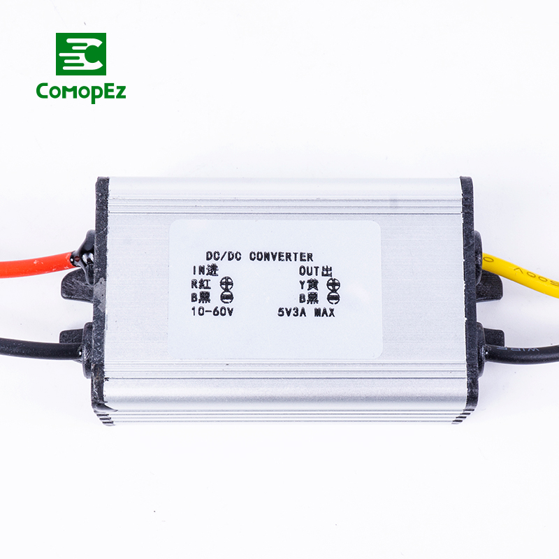 10 60V to 5V 3A Voltage Reducer DC to Dc Converter IP68 Step Down Requency Regulator Buck Module for Water Pumps Golf Carts in Inverters Converters from Home Improvement