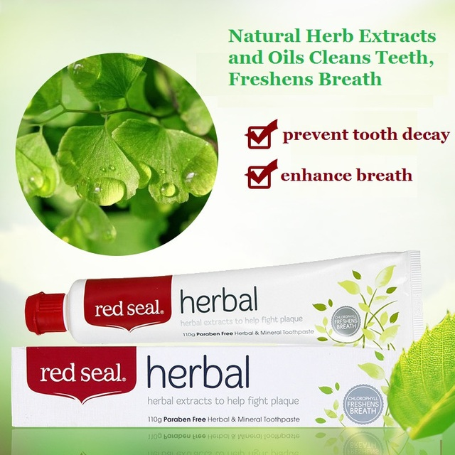 NewZealand Herbal Toothpaste2PCS Mild minty taste Cleans freshens breath Fights plaque decay whiten teeth Free of Colour Paraben