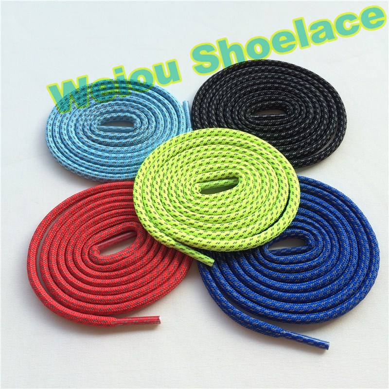 (30 pairs/Lot) Weiou wholesale shoe laces different color shoelaces 3m laces plastic tips reflective sports shoelace 43/110cm