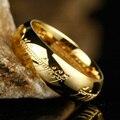 Amarillo 18KGP plateó el acero Titanium el señor de los anillos hombres clásicos de la joyería del envío ( GR147 )