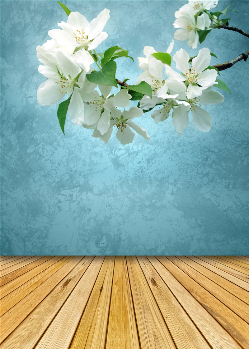 Photo Background Wooden Floor Vinyl Photo Props for Studio Flowers Photography Backdrops Small Fresh 5x7ft or 3x5ft Jieqx060 5 x 10ft vinyl photography background for studio photo props green screen photographic backdrops non woven 160 x 300cm