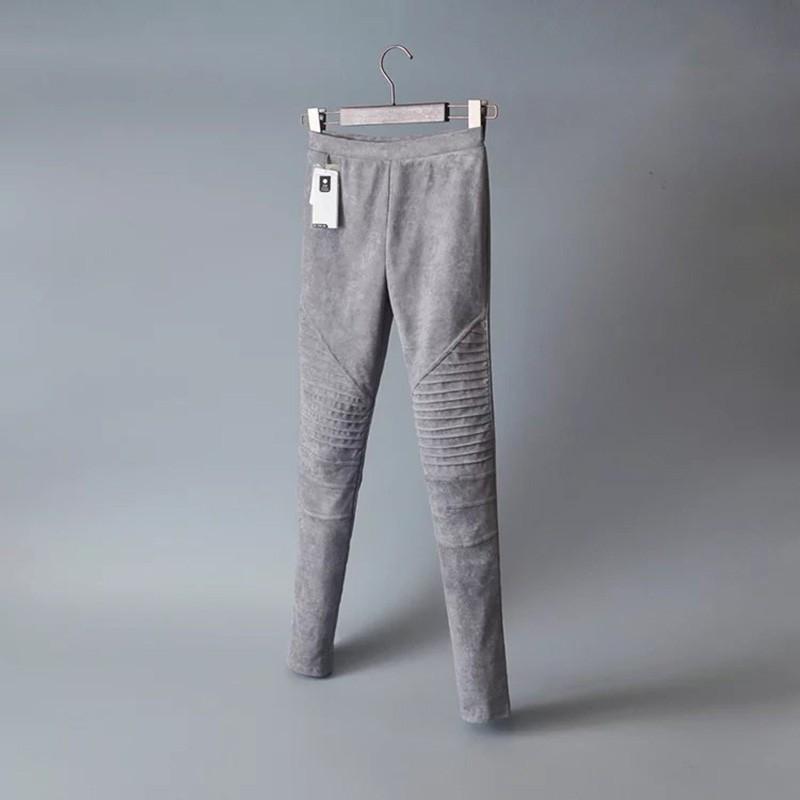 Slim Suede Jeans 7