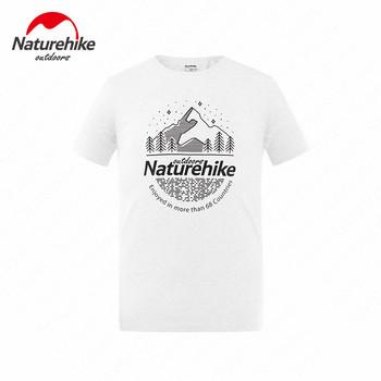 Naturehike sportowa koszulka piesze wycieczki do biegania wspinaczka lato oddychająca elastyczna Top na zewnątrz podróży piesze wycieczki wypoczynek wygodne Top tanie i dobre opinie Camping i piesze wycieczki Tees COTTON Krótki Drukuj Audel Pasuje prawda na wymiar weź swój normalny rozmiar Nh19w005-h