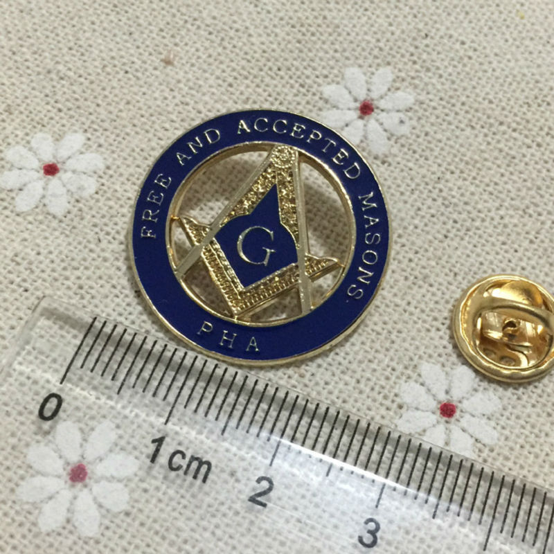 100pcs Masonic Master Mason Prince Hall Affiliated Lapel Pin Equinox Masonic Regalia Blue Lodge PHA Free and Accepted Masons