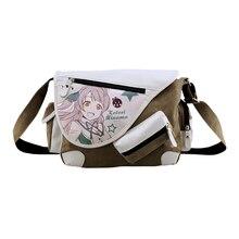 цены на E-Mell lovelive Grave Robbery Note LOL Kantai Collection GINTAMA Sword Art Online Single shoulder Message PU+canvas bag  в интернет-магазинах