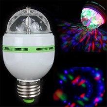 1 Pc E27 RGB LED Bulb Lamp AC 110V 220V 3W RGB LED Spot Light Adjustable Magic Holiday Lighting RGB 16 Colors VEJ36 P18 0.2