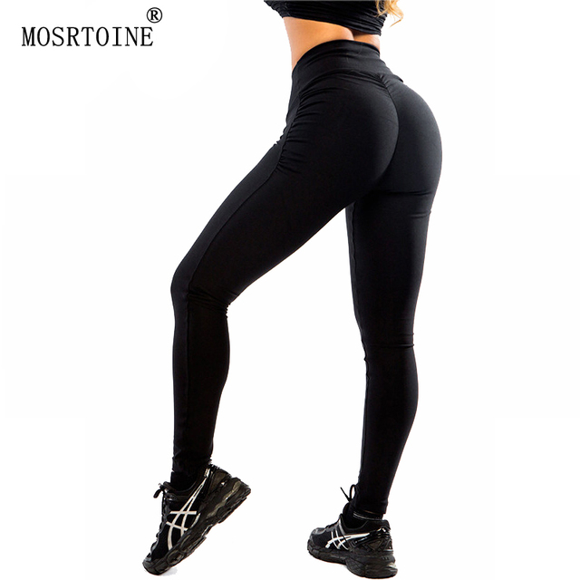 MOSRTOINE Women Sexy Leggings 2017 Autumn Winter Black Plus Size L Style Breath Yuga Dance Elasticity Soft Fit Women Leggings