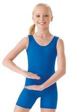 Icostumes Girls' Spandex Gymnastics Tank Biketard Ballet Dance Unitard Bodysuit