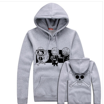 New Winter Anime Ace One Piece White Beard Cartoon Coat Clothes For Male And Female Adolescents
