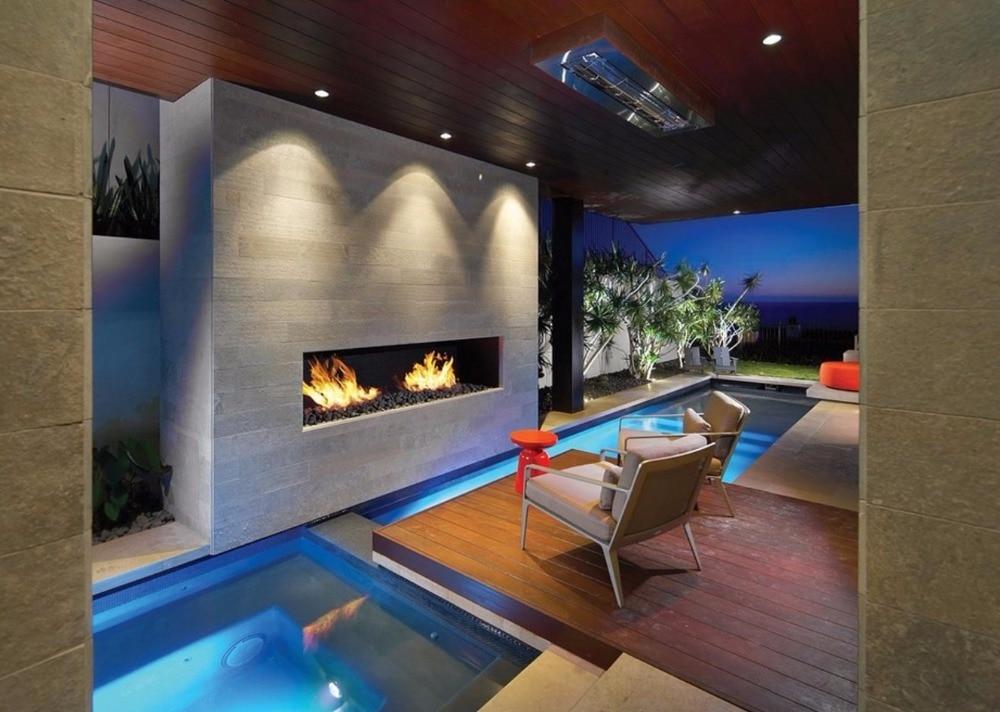 On Sale 18 Inch Bio Fireplace Wifi Contact Cheminee Ethanol Decorative