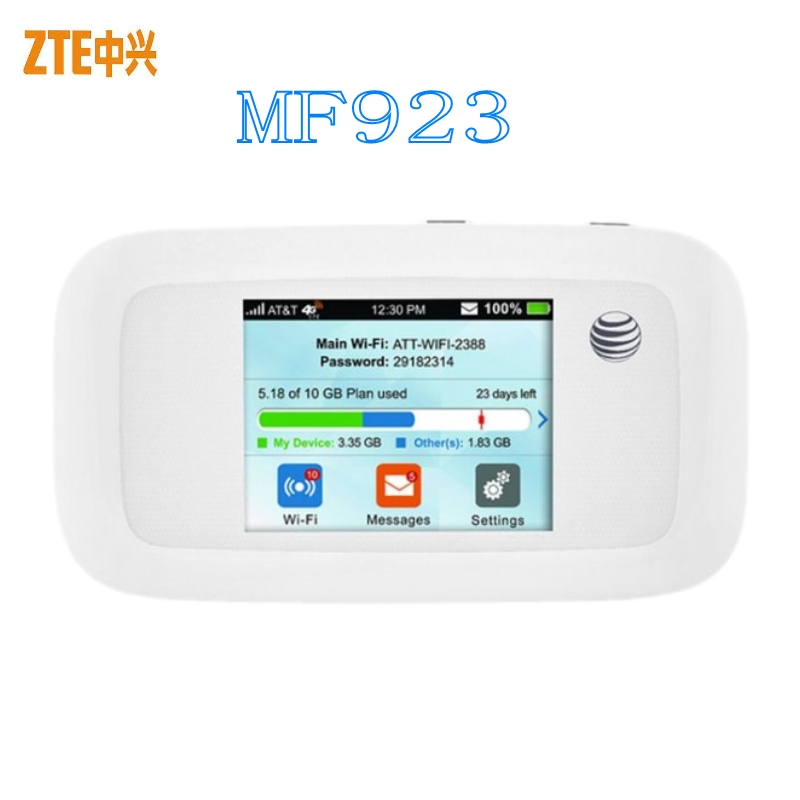 Unlocked 4g ZTE MF923 Lte Wifi Router Support LTE 4G CPE LTE 700/850/AWS/1900/1700MHz For North America