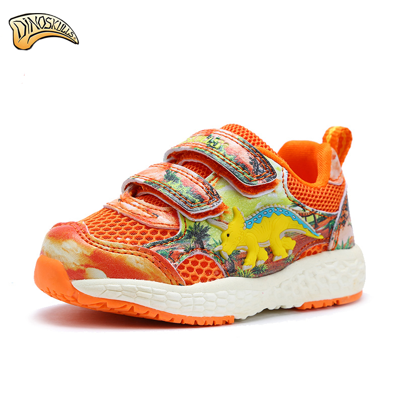 Dinoskulls Running Shoes Sports Sneakers Breathable 2017 New Arrival Casual Shoes For Boys Summer 3D Dinosaur Sneakers Kids Shoe 2016 new shoes for children breathable children boy shoes casual running kids sneakers mesh boys sport shoes kids sneakers