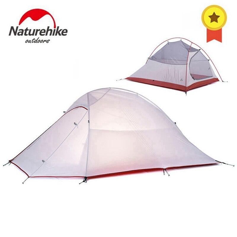 Naturehike Nuage Up Série 1 2 3 Personne tente ultralégère Camp Équipement 20D Nylon Mise À Niveau 2 Homme Hiver tente de camping Avec Tapis