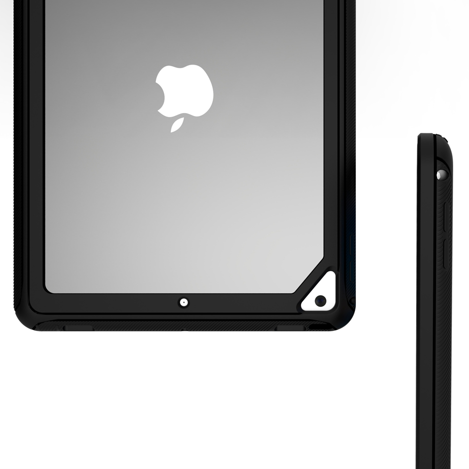 Axbety For iPad 9.7 2017 2018 Heavy Duty Hybrid Armor Cover For iPad 6 Air 2 iPad Pro 9.7 Shockproof Protect Tablet Phone Case for funda ipad air 2 case heavy duty pc rugged impact hybrid stand cover cases for ipad air2 ipad 6 shockproof kid case capa