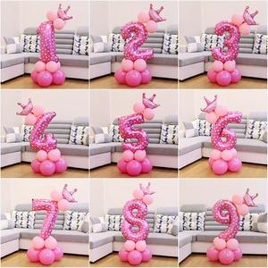 Image 3 - Heronslei 1, 2, 3, 4, 5, 6, 7, 8, 9 anos, feliz aniversário, folha de número, balões, bebê, menino e menina decorações de festa crianças suprimentos 2ª 3ª