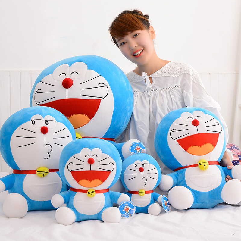 25-50cm 5 Styles Different Facial Expressions Doraemon Cat Plush Toys Cat Doll Kid Child Japanese Cartoon Kiss Big Mouth Cat ToyDolls & Stuffed Toys