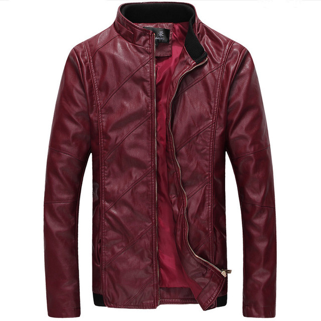 2016 New Men Leather Jacket Washing PU Leather Motorcycle Jackets Large Size M-6XL Male Skin Leather Coat Outwear
