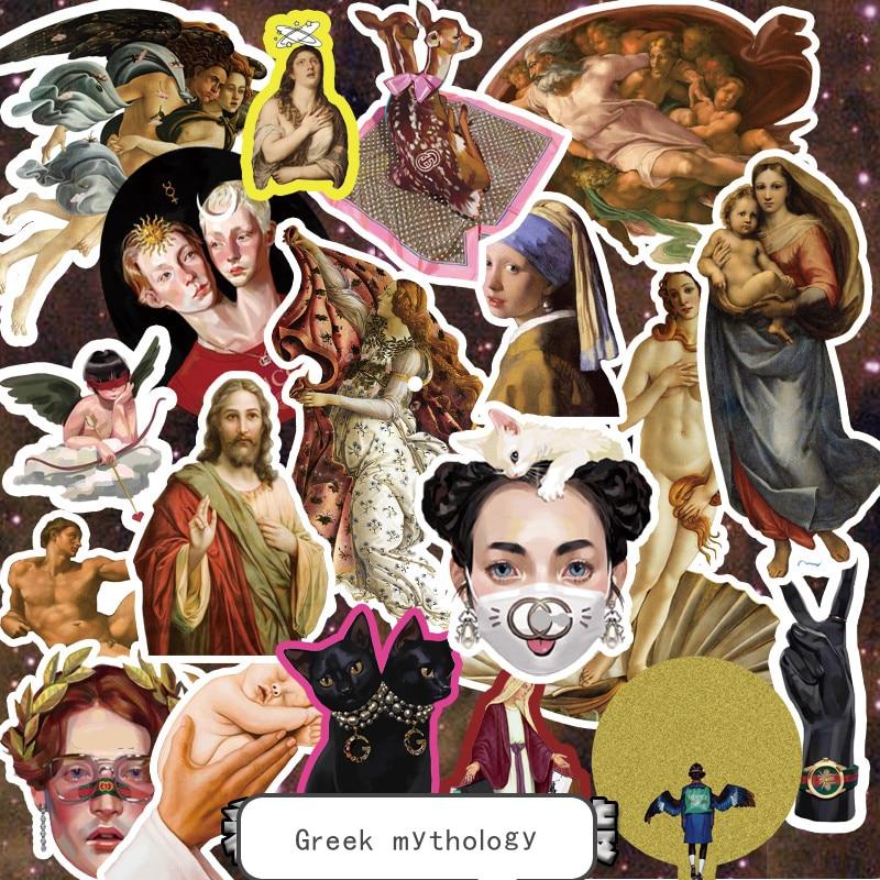 Greek mythology funny suitcase stickers personalized stickers trolley case stickers laptop stickers waterproof stickers in Stickers from Home Garden