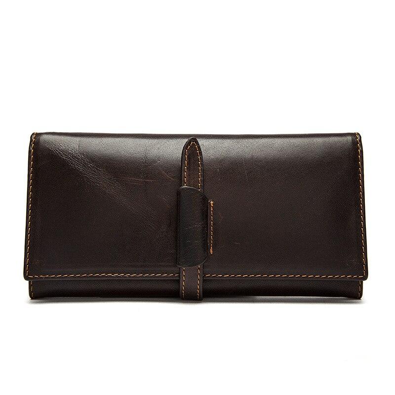 New Fashion Men's Wallet Genuine Leather Wallet Men Purse Business Luxury Designer Card Holder Purse Men Clutch Male Long Purses