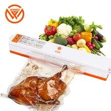 WOMSI 220 V/110 V hogar alimentos sellador máquina de envasado al vacío Film sellador envasado al vacío incluyendo 15 Uds bolsas gratis