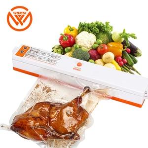 Image 1 - WOMSI 220V/110V Household Food Vacuum Sealer Packaging Machine Film Sealer Vacuum Packer Including 15Pcs bags free