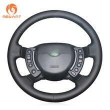 MEWANT housse de volant de voiture en cuir artificiel noir, pour Land Rover et Range Rover 2003 2012
