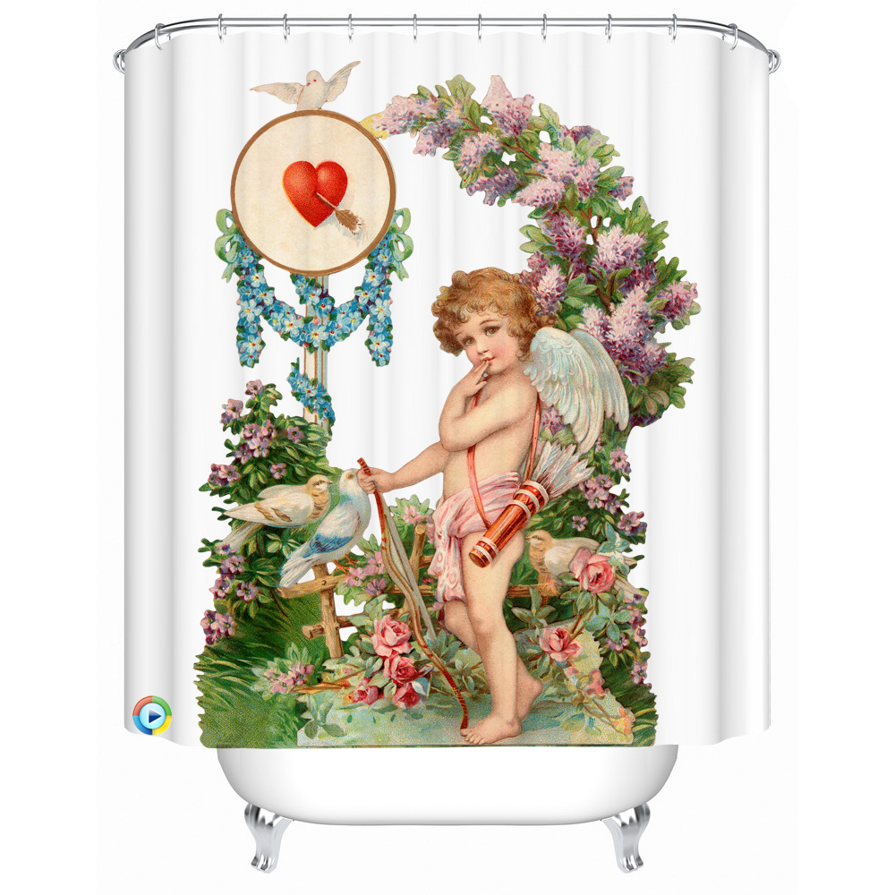 Angel Bathroom Decor. Angel Bathroom Decor European Style Shower Curtain  Waterproof Thick Painting Home