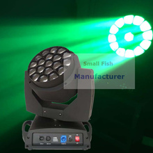 2017 New Arrival 19X15W RGBW 4IN1 Wash Beam LED Bee Eyes Moving Head Lights 110-240V For Professional Stage Dj Disco Lights
