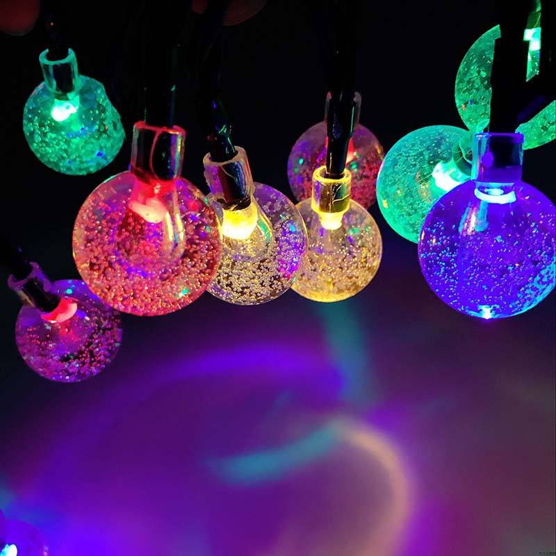 Dcloud Globe Outdoor Solar String Lights 6M 30 LED Fairy Bubble Crystal Ball Holiday Party Decoration Lights Lawn Patio ...