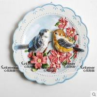 Bird lovers decorative wall dishes porcelain decorative plates vintage home decor crafts room decoration figurine
