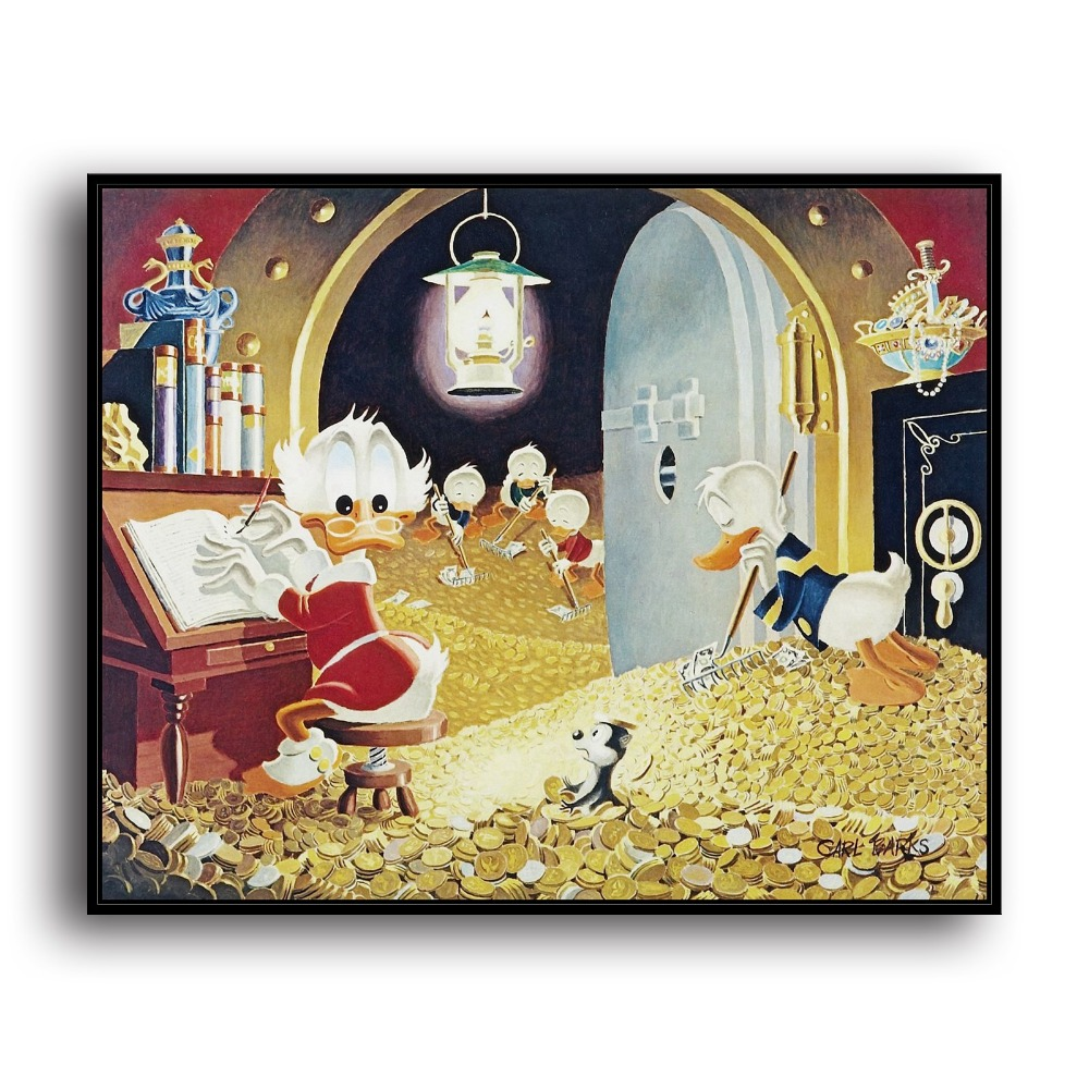 SR100844 Duck Tales and Scrooge McDuck Money Animal .HD Canvas Print ...