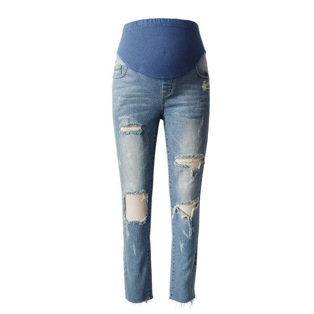 054ed985904c0 MAGGIE'S WALKER Maternity Jeans Pants Fashion Ripped Hole Pants Pregnant  Women Denim Skinny Jeans Pregnancy Female Trousers