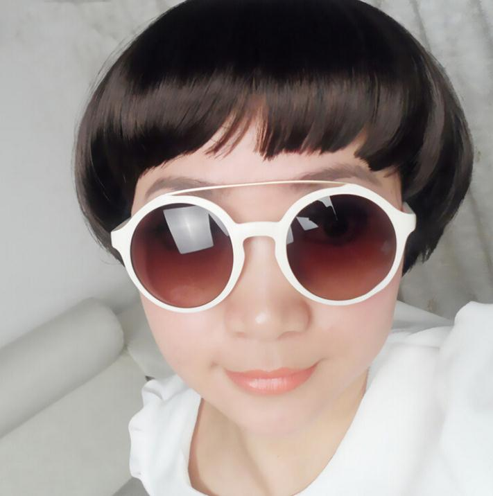 Retro metal beams round  toad sunglasses 2014 new Fashion sun glasses brand designer Free ship GL-5251