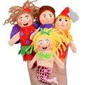 Suave 4 UNIDS Dedo Juguetes Marionetas de Mano de Regalo de Navidad Se Refiere Al Accidente brinquedo menina marioneta de mano 2016.11