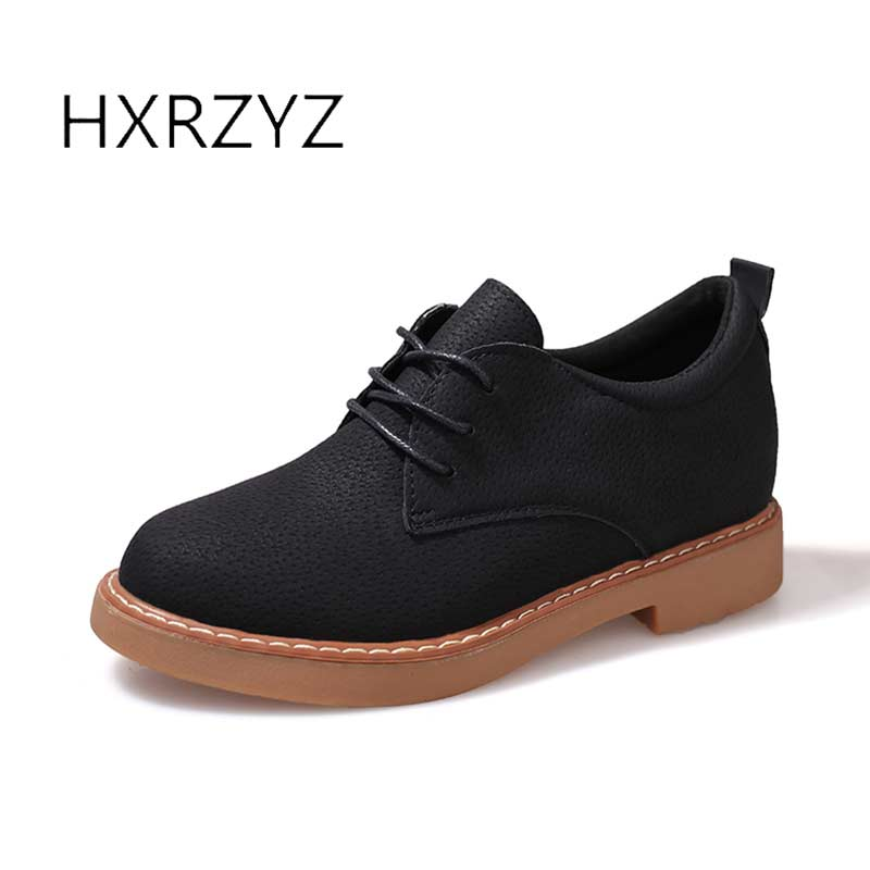 HXRZYZ spring/autumn new fashion shoes woman female Increased internal leather rubber bottom round toe low heels for women free shipping 2016 spring autumn new increased internal woman shoes elastic band med heels pumps black red white woman shoes