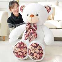 100cm Teddy bear doll plush toys print hugs Giant teddy bears Stuffed Animals Soft Plush Toys birthday gifts