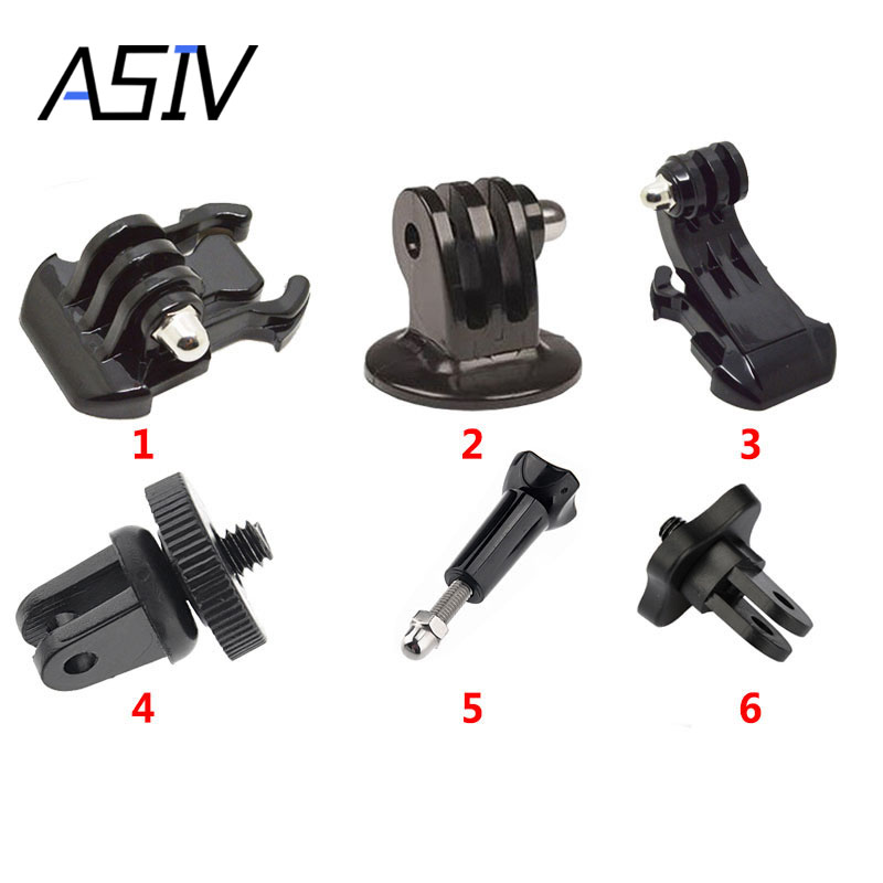 Gopro Accessories 1 4 Tripod Adapter Converter Mount J Hook Quick Mount For Sony AEE Gopro