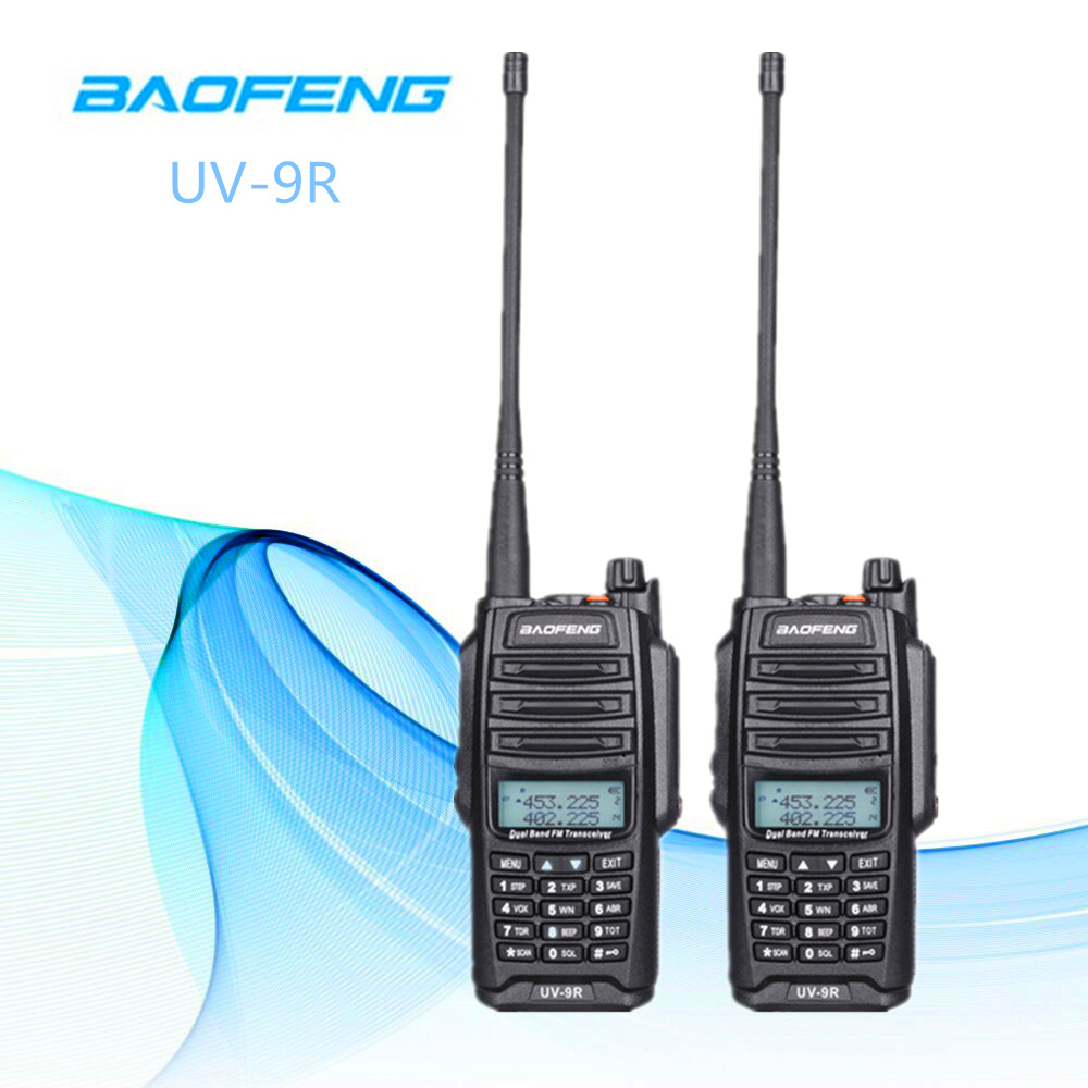2pcs 10W Baofeng UV-9R Waterproof Walkie Talkie for CB Ham Radio Station 10 km Two Way Radio UHF VHF Intercom Transceiver2pcs 10W Baofeng UV-9R Waterproof Walkie Talkie for CB Ham Radio Station 10 km Two Way Radio UHF VHF Intercom Transceiver