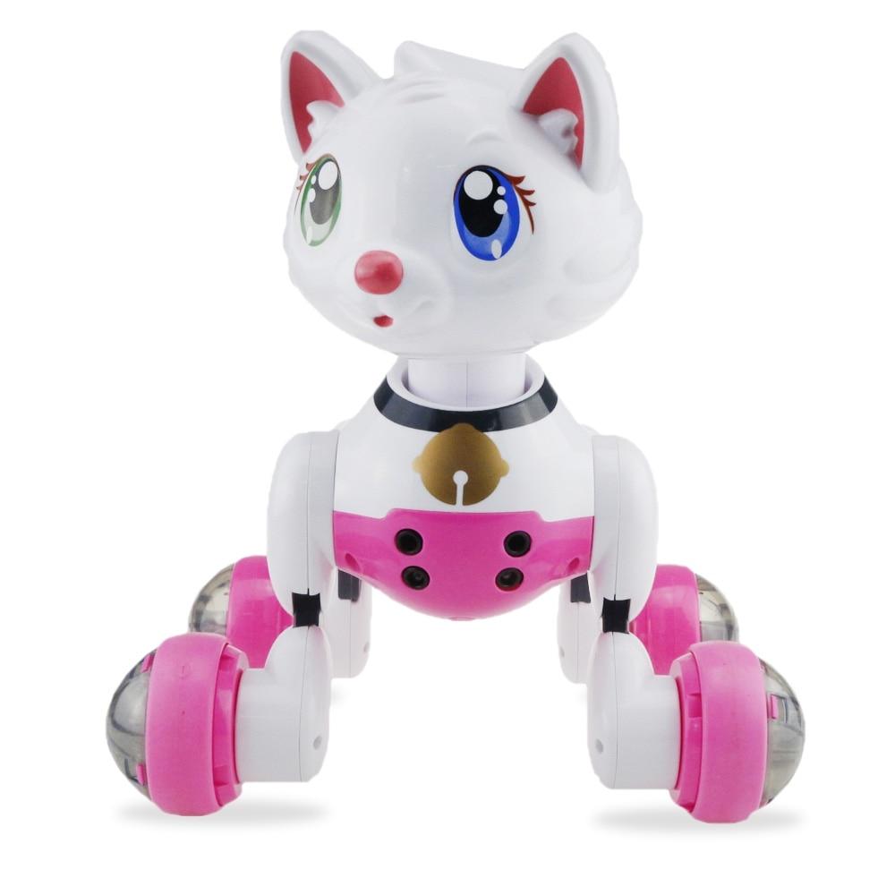 Commande vocale intelligente chat Robot danse avec la musique chanter électronique Pet intégré lumière automatique Mode suivant fonction de dormance