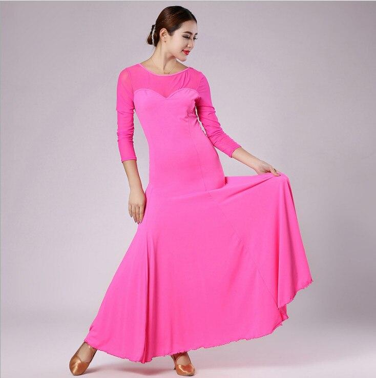 2017 new multi colors big hemlines new modern dance dress flamenco ballroom Tango dress stage performance competition costumes