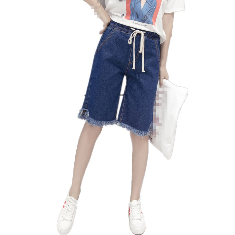 ZB2428 Summer 2020 new women loose high waist big size loose slim thin denim shorts fashion cheap wholesale