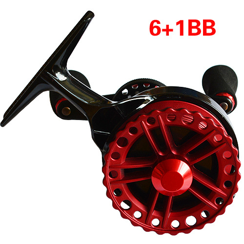Manufacturer promotions QZF Engineering resin Raft Reels 6 + 1BB Red fishing vessel Right-hand Belt unloading force