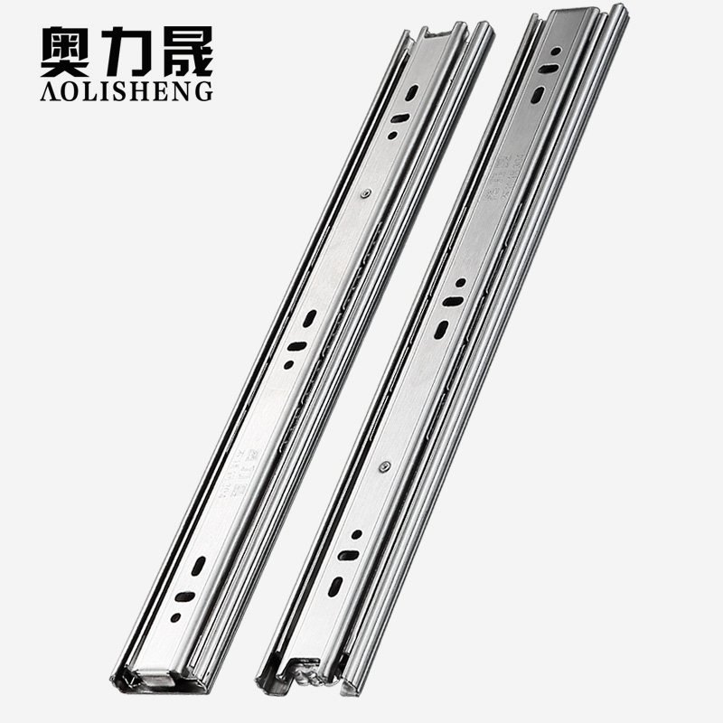 Image 2 - Stainless Steel Drawer slide rail 8 24 Inch Ball Bearing Three Sections Full ExhibitionSlides   -